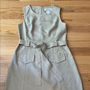 VTG Linen dress Belted